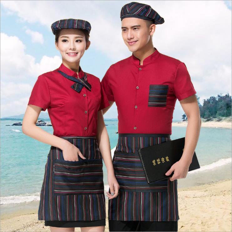供应 工作服短袖夏季酒店服务员服厨师服餐饮饭店酒楼后厨