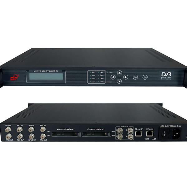 多普智能IPTV调制器MK-5117 四路有线IP大卡机