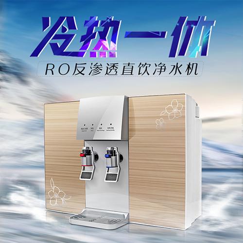 供应 纯水机冷热一体净水器Ro反渗透净水器家用厨房直饮