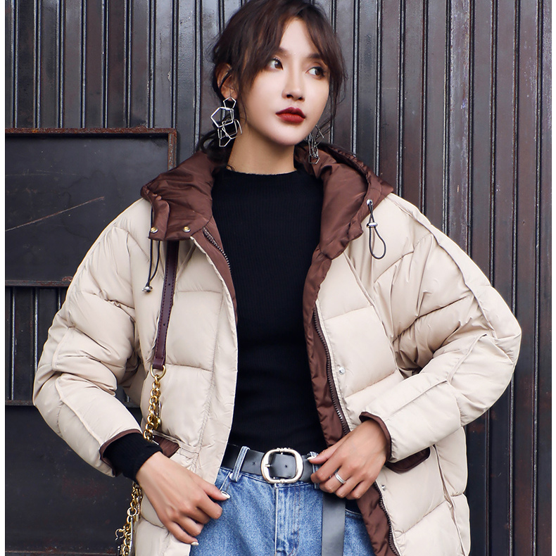 美丽啪2018秋冬短款羽绒棉服免费试用