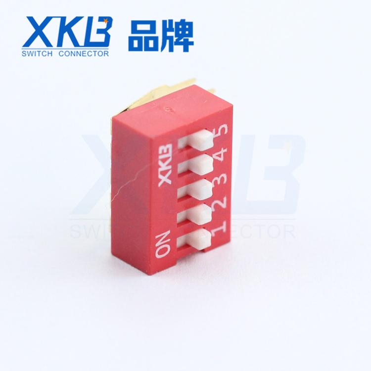 反向拨码开关DA-05 侧拨长 短柄  XKB星坤品牌 www.1k0k.cn