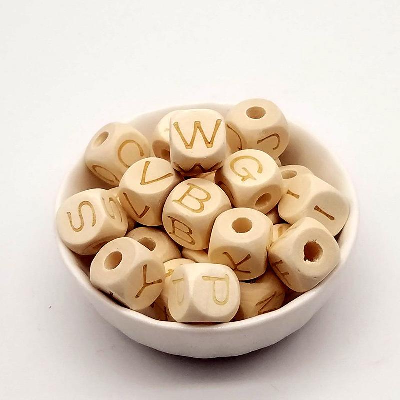 供应  原木激光雕刻字母方块荷木