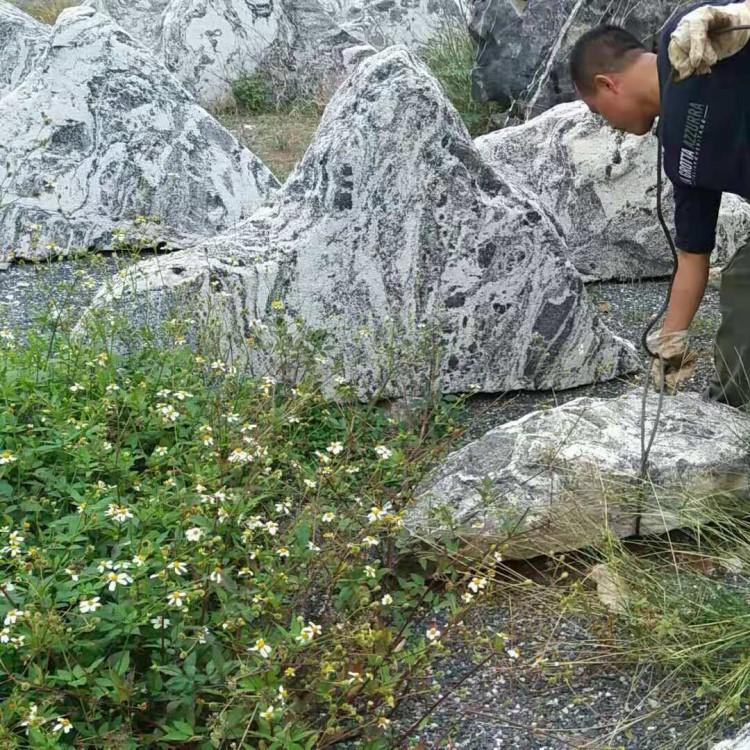 铭富园林奇石中国奇石无奇不有铭富园林带你观赏自然泰山石切片