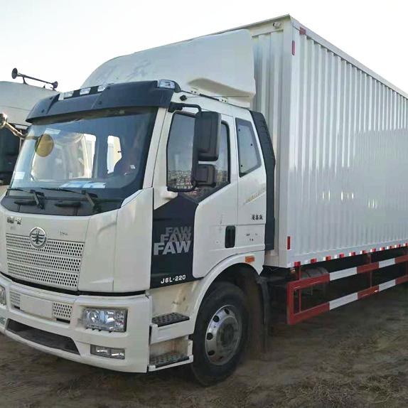 一汽解放J6前四后四9.6米箱式货车