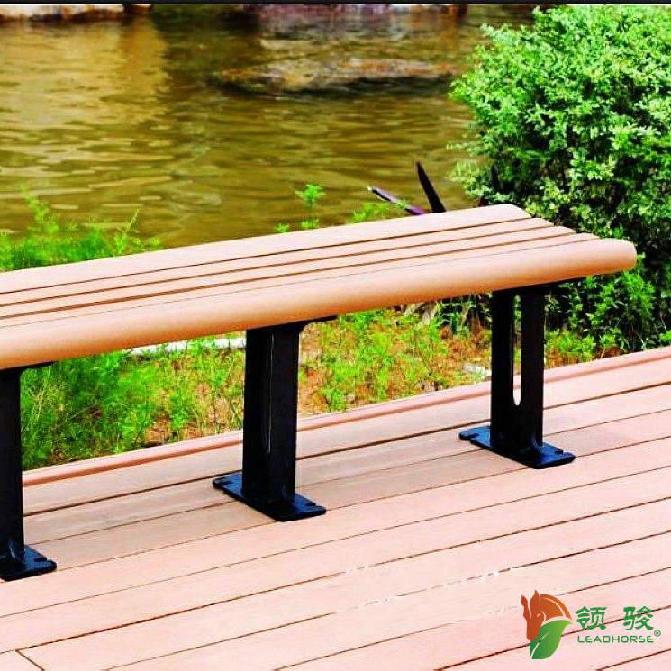 木塑公园椅花园椅休闲椅广场椅 福建领骏塑木厂家自营