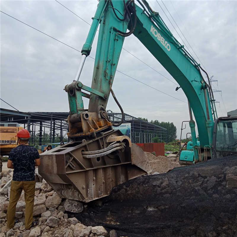 大宇200挖机专用液压碎石斗三个月回本图片