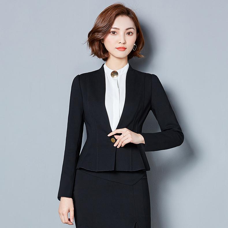 供应ASTON 职业女西装修身显气质西服套装定制