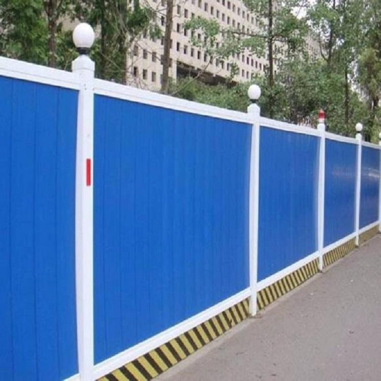 彩钢板围挡厂家 振鼎 蓝色施工围栏围挡