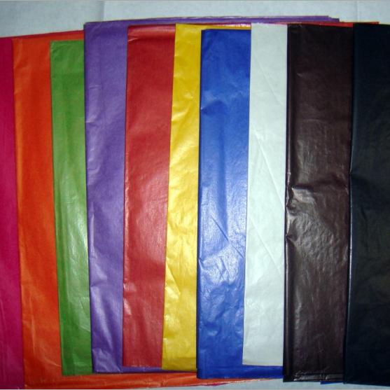彩色腊光纸 彩色油腊纸 果蔬包装纸 颜色亮丽 理想纸托用纸
