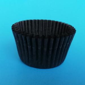 黑色腊光纸 食品级蛋糕纸托 优质黑色蜡光纸 不脱色 易分离
