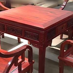 非洲红花梨麻将桌
