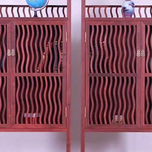 血檀白胚书柜二组合  实木家具 红木家具