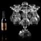供应 创意水晶红酒杯架 客厅摆件 时尚酒瓶架 高脚杯架子