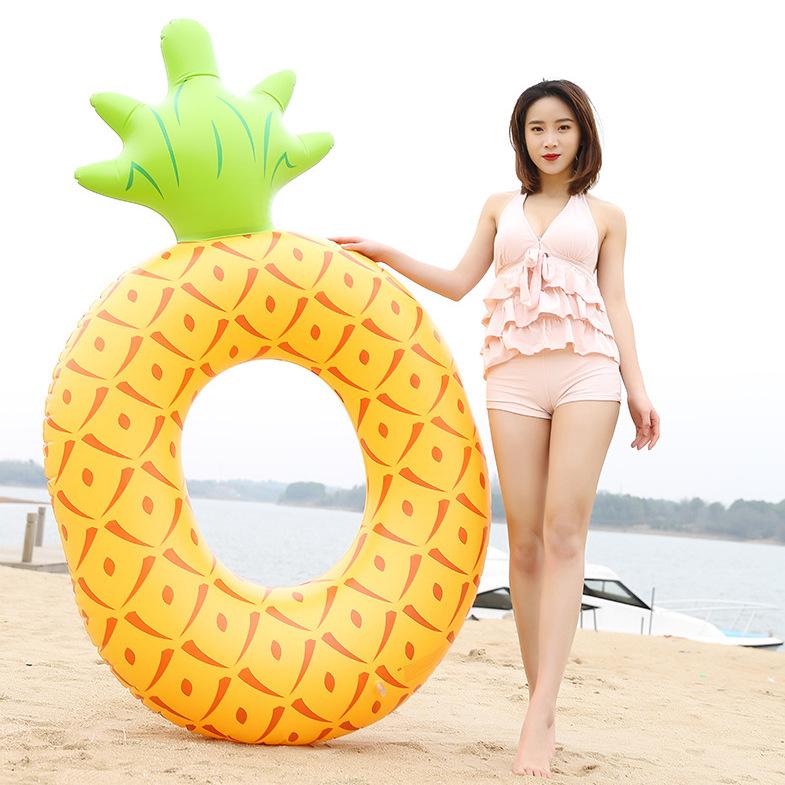 现货PVC充气游泳圈甜甜圈卡通儿童泳圈成人男女水上游泳用品批发定制