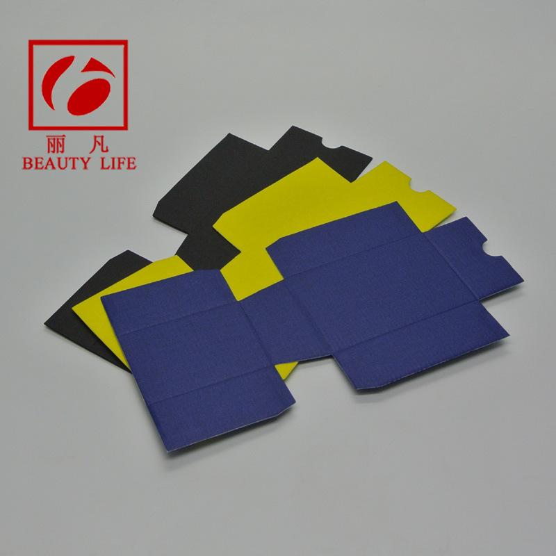 供应 三层110g黑瓦楞纸内衬 化妆品包装盒内衬