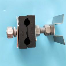 杆用引下线夹 杆径300mm引下夹具 光缆引下线夹价格