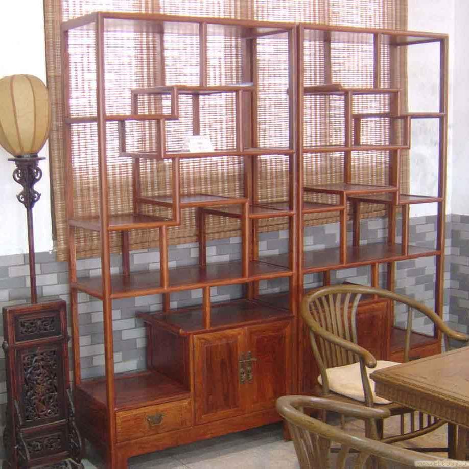 中式传统家具博古架_实木中式博古架图片_成都福运博古架厂家