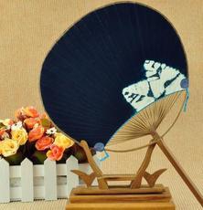 供应 纯手工艺复古和风竹柄团扇圆形扇子