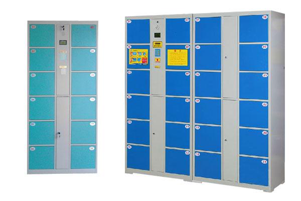 24门条码智能储物柜指纹手机存放柜