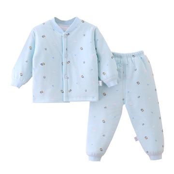 婴儿保暖两件套 新生儿棉衣棉服 儿童夹棉套装南极棉