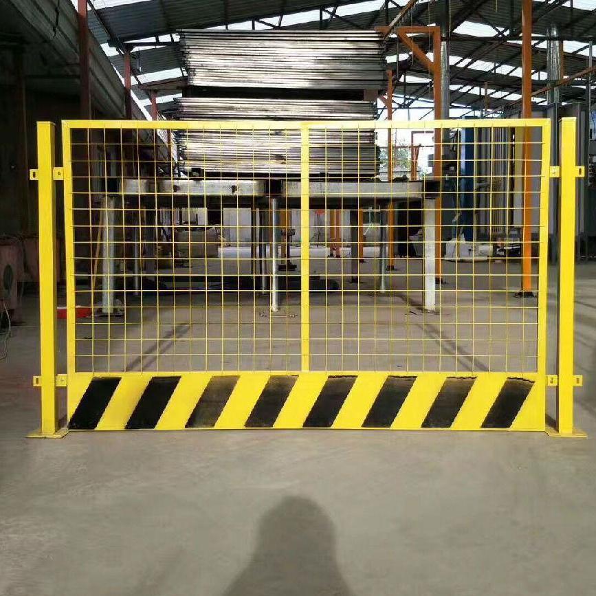 恒跃厂家供应黄黑基坑护栏 地铁工地施工临时围挡 洞口防护栏
