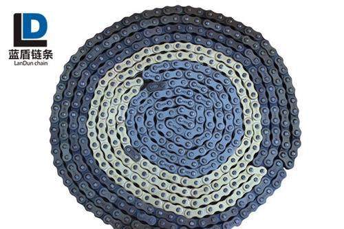 蓝盾链条货源充足(图)、弯板链条规格、广州弯板链条
