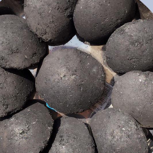 每吨煤添加40-50kg的兰炭焦粉球团粘结剂