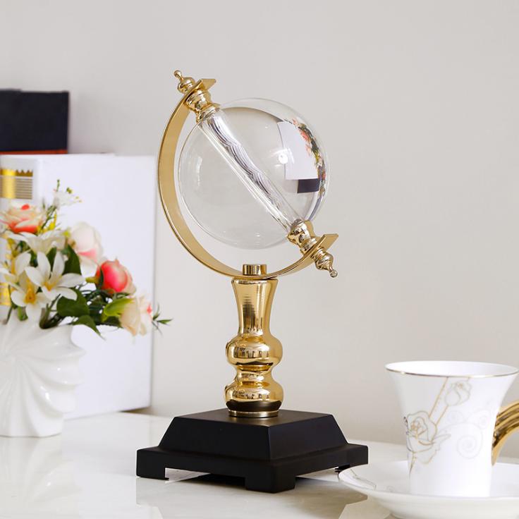 供应 现代水晶球摆件 欧式创意客厅工艺品摆件 水晶玻璃工艺品