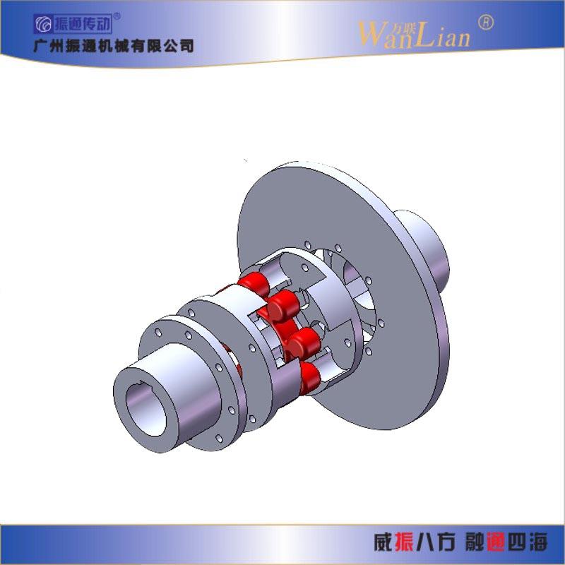 振通传动LMPK型带制动盘梅花形弹性联轴器  联轴器销售公司