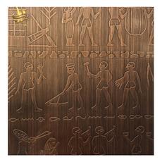 不锈钢红古铜板 不锈钢电梯蚀刻板酒店电梯不锈钢花纹板