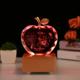 供应 水晶苹果内雕工艺品 圣诞节礼品 生日礼物 厂家定制