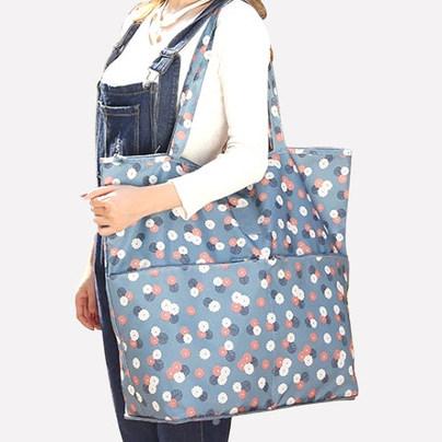 供应 单肩女大包简约超大容量帆布防水环保袋子