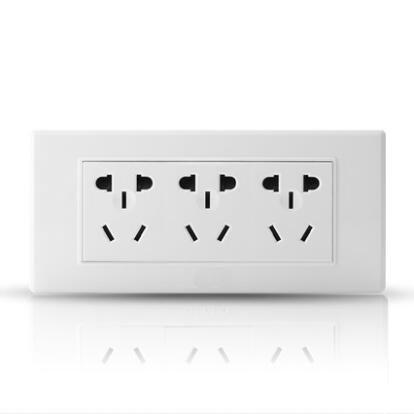 118型墙壁开关插座 多功能三位电源插座面板
