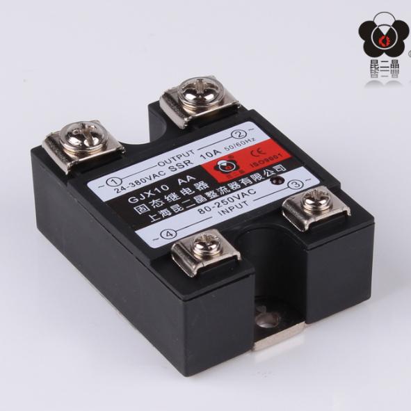 昆二晶 SSR40A 480V 单相固态继电器小型模组 AC-AC 交流控交流 480VAC