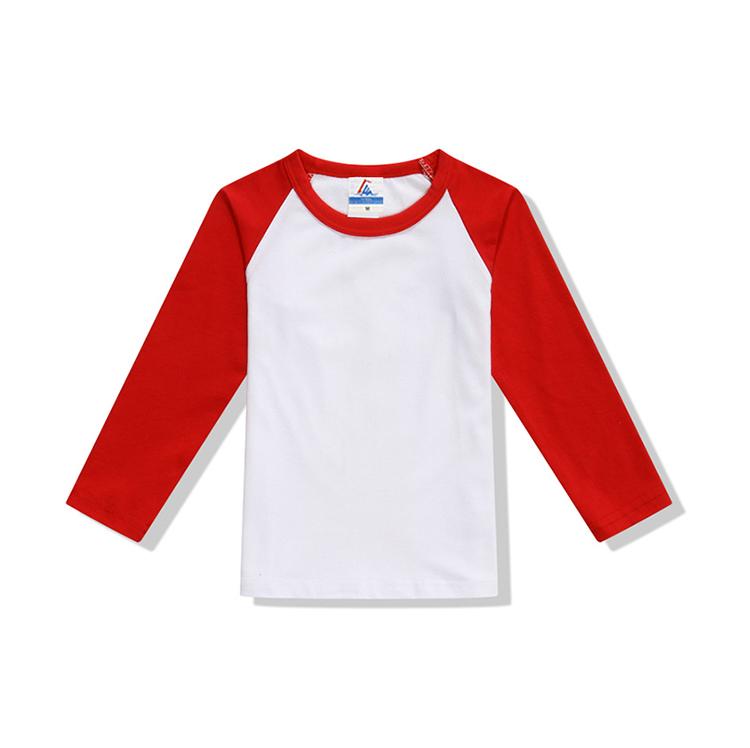 文化衫团体服童款200克莱卡精梳插肩长袖LW 3217