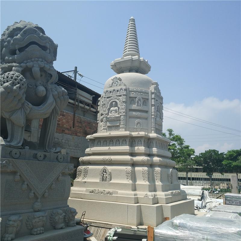 厂家直销花岗岩石雕佛塔 石材雕刻塔 寺庙古建可定做