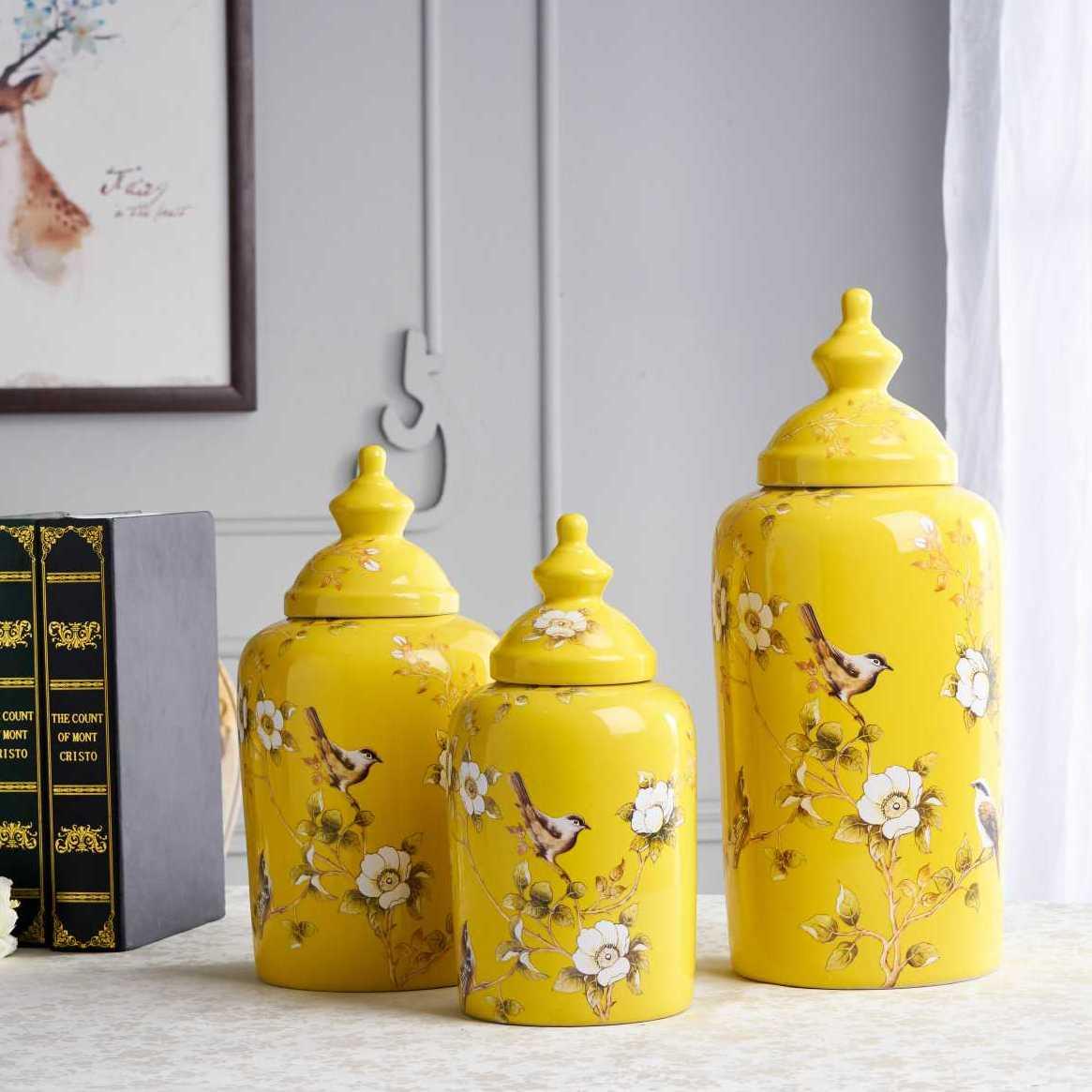 景德鎮新中式陶瓷罐系列擺件