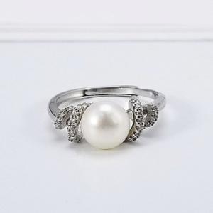 供应韩版创意时尚珠宝珍珠指环S925纯银戒指